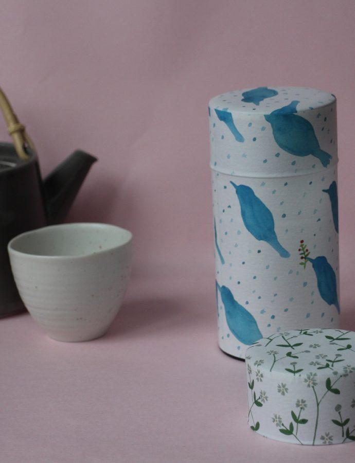 キュートな和柄が魅力的。『茶筒』