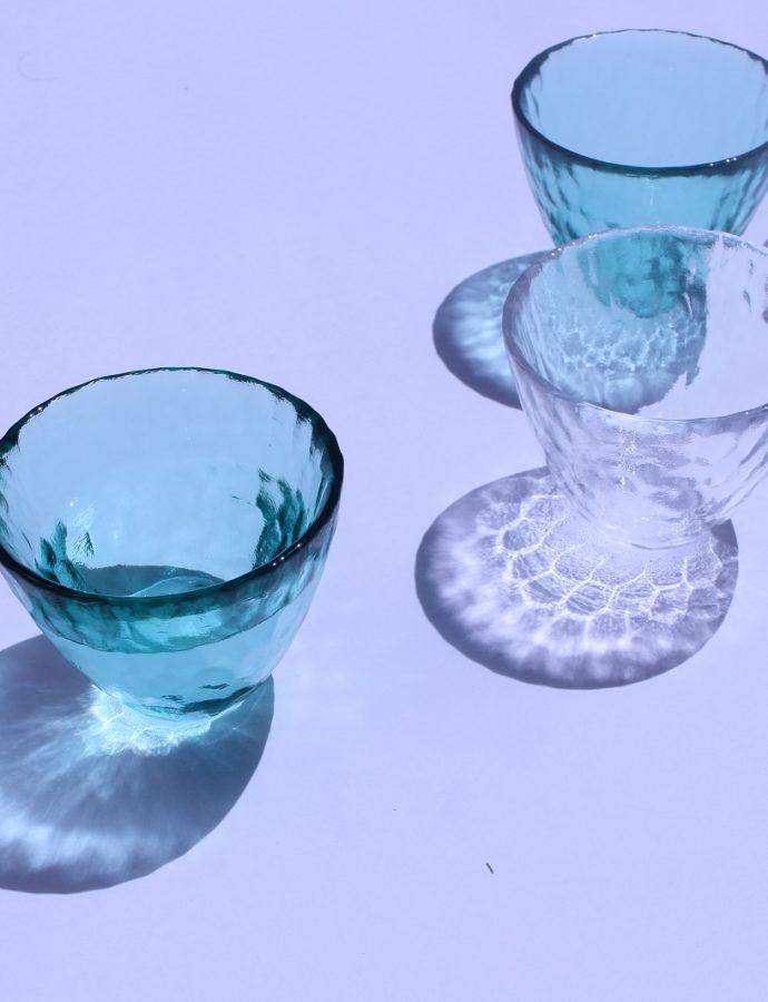 涼しげなグラス並んでます♩