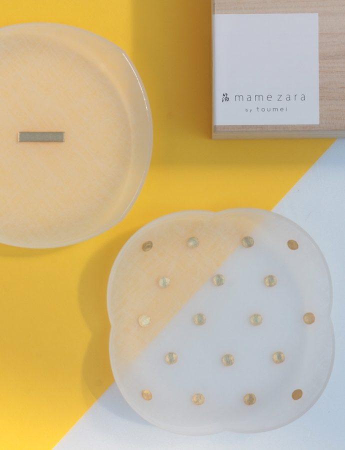 『toumei』箔豆皿2枚セット