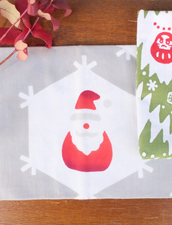 クリスマス柄の手ぬぐい