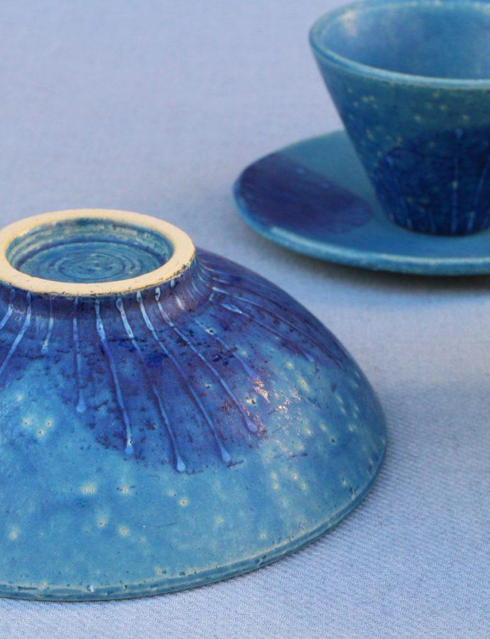 ブルーのお色が爽やか!美濃焼の器