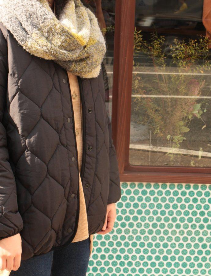 「LinoeLina」スヌードと「nachukara」キルティングコートのご紹介♪