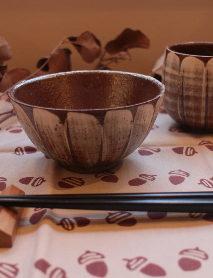 美濃焼「白花の飯茶碗」
